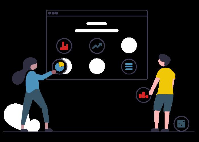 illustration of people doing tasks