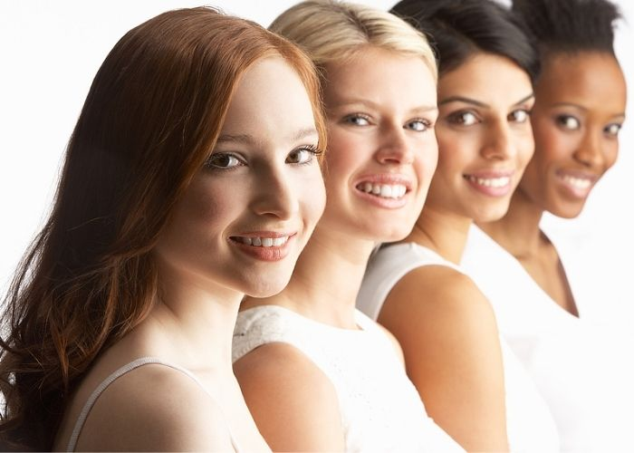 4 woman in white